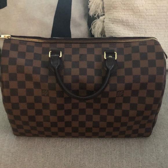 ad6da8e91a07 Louis Vuitton Handbags - Speedy 35 Louis Vuitton Ebene